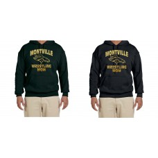 Montville Broncos Wrestling 'Wrestling Mom' Hooded Sweatshirt