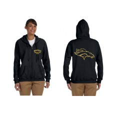 Montville Broncos Wrestling 'Wrestling Mom'  Zip-Up Hooded Sweatshirt