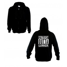 """Straight Outta Lurker"" Zip Up Hoody"