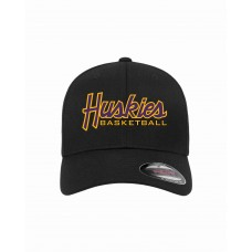 Huskies Basketball Embroidered Flexfit Hat