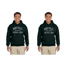 "Montville ""Baseball-Softball Mom"" Glitter Hooded Sweatshirt"