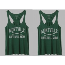 "Montville ""Baseball-Softball Mom"" Glitter Tank Top"