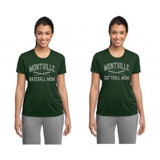"Montville ""Baseball-Softball Mom"" Glitter Moisture Management Tshirt"
