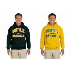 "Montville Baseball ""Mesh Crossed Bats"" Hooded Sweatshirt"