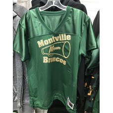 Montville Cheer Mom Ladies Junior fit Football Jersey