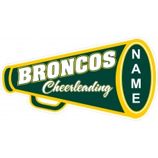 Montville Broncos Cheerleading Jersey Lawn Sign