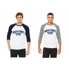 South Street School Bella Canvas Baseball Tee