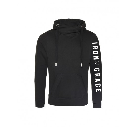 Iron Grace Cross Over Neck Hoody