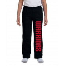 Lady Warriors Softball Open Bottom Sweatpants
