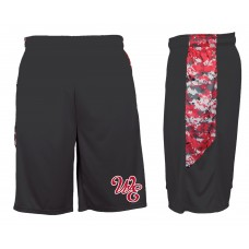 Lady Warriors Softball Embroidered Digital Camo Short