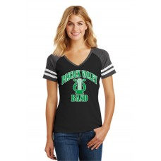 Pascack Valley Band Ladies Game V-Neck T-Shirt
