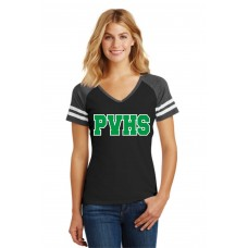 Pascack Valley Ladies Game V-Neck T-Shirt